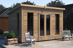 14x8 And039don Morrisand039 Wooden Garden Room Summerhouse-studio-shed Heavy Duty Bespoke