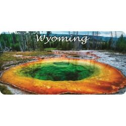 Wyoming Scenery Rainbow Hot Springs Yellowstone Park License Plate Made In Usa