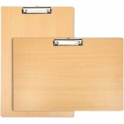 2 Pack Ledger Size Wood Clipboards With Low Profile Clip Horizontal And Vertical