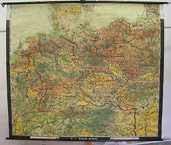Wall Map Germany German Rich Before 1938 Bodennutzung 223x196 Vintage
