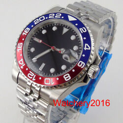 Bliger Red Second Hand Nh35a Movement Sub Japan 24 Jewels Self Winding Men Watch