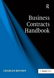 Business Contracts Handbook By Boundy, Charles Hardback Book The Fast Free