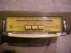 Vintage Very Early Audiovox Transmobile Pull Out Car Radio-made In Italy