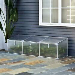 Reach In Greenhouse Flip Top Portable Aluminum Vented Cold Frame 6ft L X 20in H