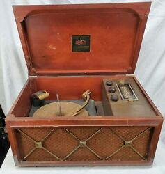 Vintage Antique -ge Tube -radio Phonograph Combination -118 -for Parts Or Repair