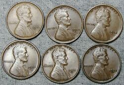 1909 Vdb 1913 1914 1923-s 1931-d 1932-d Lincoln Cent Wheat Penny Nice Lot N161