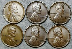 1916 1918-d 1919 1920 1928-d 1933 Lincoln Cent Wheat Penny Nice Lot N164
