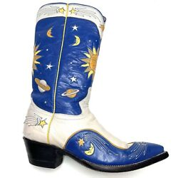 Rocketbuster Ocha Nuevo 1990s Western Inlaid Leather Cowboy Boots Womenandrsquos Size 7