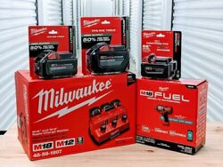 Milwaukee M18 Fuel 3/4 Impact Wrench 5ah 8ah 12ah Battery And Rapid Charge S