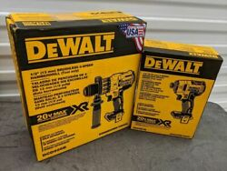 Dewalt 20v Max Xr Hammer Drill, Brushless, 3-speed And 3 Speed Impact Driver