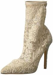 Charles By Charles David Womens Player Closed Toe Mid-calf Ivory Size 9.5