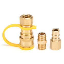 Solid Brass 3/8-inch Npt Natural Gas Quick Connect Fittings Propane Hose C3l1