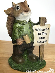 Welcome To The Nut House Novelty Squirrel Lover Gift Ornament Sculpture Figurine