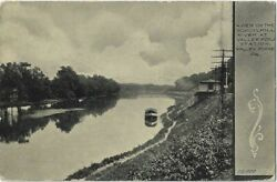 Valley Forge, Pa. A View On The Schuylkill River At Railroad Station 1908