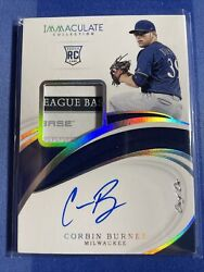 2019 Panini Immaculate Corbin Burnes 1/1 Laundry Tag Rookie Auto Rpa Brewers🔥