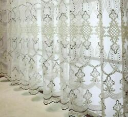Sheer Curtains Lace Tulle Embroidery Fabric Voile Window Screen European Curtain