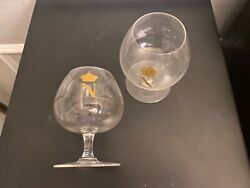 """Pair Of Baccarat Perfection 5.75"""" Cognac Brandy Glasses Signed Napoleon"""