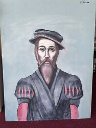 Nathaniel Reich Surreal Oil On Board 24 X 32