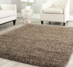 Mushroom Brown Solid Shag Area Rug Rugs 8and039 X 10and039 4 6 5 8 7 10 8 10 9 12 13 New