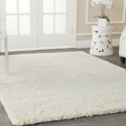 White Ivory Solid Shag Area Rug Rugs Carpet 4 6 5 8 7 10 8 10 10 13 9 12 11 15