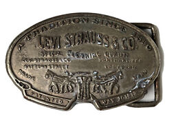 Antique Levi Strauss And Co. Belt Buckle - San Francisco Ca. - Extremely Rare