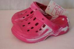 NEW Toddler Girls Water Shoes 9 10 Pink Sandals Clogs Slip On Pool Beach Large $5.99