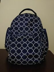 Initials Inc Oh Baby Backpack Navy Blue Tile White Diaper Bag Bookbag Changing $15.00