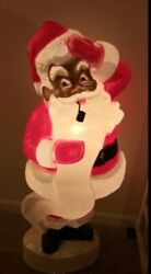 Santa 43 Union Products African American Blow Mold Christmas Decorations