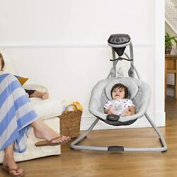 Compact Baby Swing Side Motion Cradle Sounds Vibrating Small Comfortable Seat