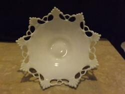 Westmoreland Milk Glass Ring And Petal Compote Bowl 11-1/2