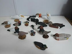 Wooden Carved Hand Painted Signed By James Johnson, Miniature Ducks 15