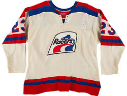 1974-75 Game Worn Indianapolis Racers Wha Jersey Rawling Dureene 23 A Remove
