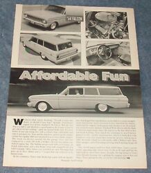 1964 Ford 2-door Wagon Vintage Restomod Article Affordable Fun
