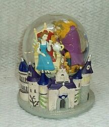 Disney Beauty And The Beast Musical Snowglobe Castle, Belle, Beast, Lumiere...