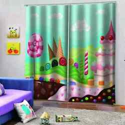 Admiring And Cool Dessert Stationprinting 3d Blockout Curtains Fabric Window