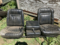 1976-1979 Liand039l Red Express Warlock Bucket Seats With Console Local Pick Up