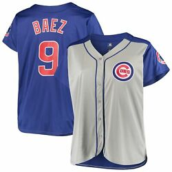 Javier Baez Chicago Cubs Womenand039s Plus Size Jersey - Gray/royal