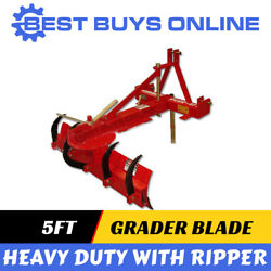 Grader Blade 5 Ft With Rippers Heavy Duty 1500 Mm For Tractor 3 Point Linkage