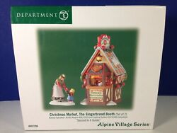Dept 56 Alpine Village Christmas Market The Gingerbread Booth 807296 New And Rare