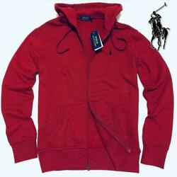 Polo Zip-up Hoodie /red