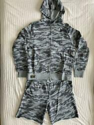 Polo Camouflage Pattern Zip-up Sweat Hoodie