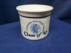 2013 Collector's Crock 70th Class Reunion Uniontown Hs, Pa New Geneva Pottery