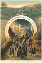 Lotr Fellowship Of The Ring Limited Screen Print Art Film Poster 225 24 X 36