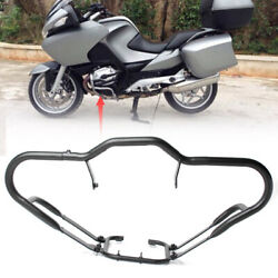 Front Lower Engine Guard Crash Bar Protector Black Fit For Bmw R1200rt 2005-2013