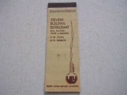 Stevens Building Restaurant 8th Floor State And Wabash Chicago Illinois Matchcover