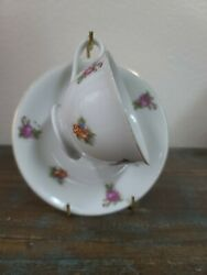 Vintage Noritake Chintz Multi-color Tea Cup And Saucer Made In Occupied Japan