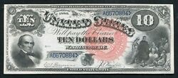 """Fr. 107 1880 10 """"jackass"""" Legal Tender United States Note Choice Uncirculated"""