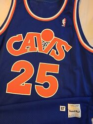 Mark Price 1987-88 Cleveland Cavaliers Rookie Authentic Sand Knit Pro Cut Jersey