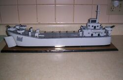 Navy Landing Ship Tank L.s.t. Wood 22and039and039 Long 5and039and039 Wide 9and039and039 High Wood Boat Nice