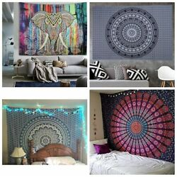 Mandala Indian Traditional Hippie Wall Tapestry Bohemian Ombre Beach Bedspread